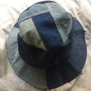 Accessories - Understated Leather Denim Bucket Hat